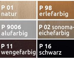 """mögliche Holzfarben für """"H 06-10"""" und """"H 13-10"""""""