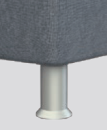 K 01-10 (Höhe ca. 10cm), Kunststoff Alufarben, Standard-Variante ohne Aufpreis