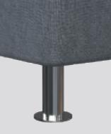 K 06-10 (Höhe ca. 10cm), Kunststoff Chromfarben, gegen Aufpreis
