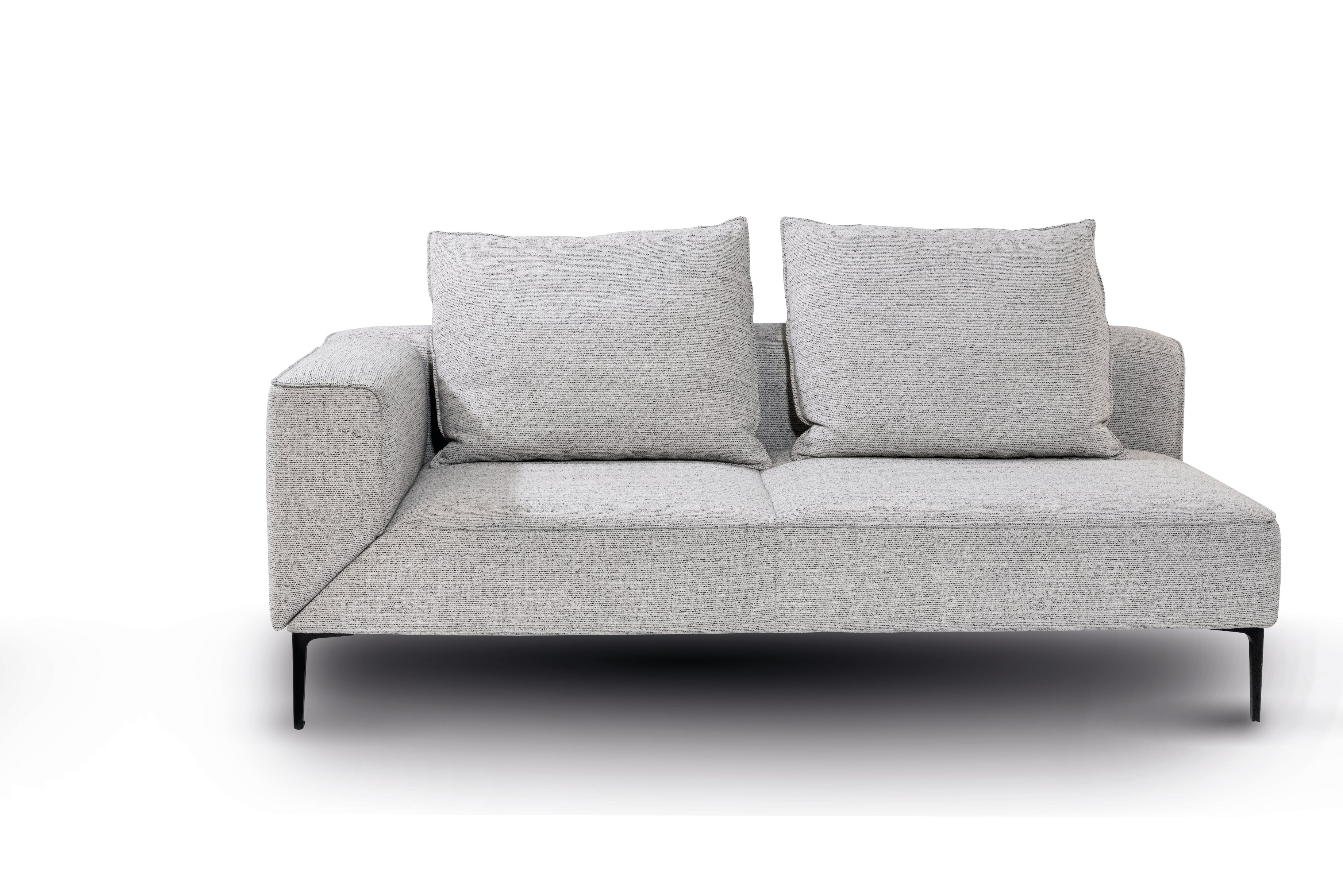 Die Armlehne des Sofa-Elements..