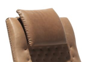 Nackenkissen im gleichen Echtleder wie der Sessel im Preis enthalten, auch ohne Nackenkissen erhältlich (ca. 9% günstiger)
